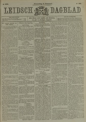 Leidsch Dagblad 1909-01-09