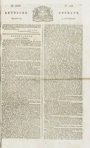 Leydse Courant 1841-11-29