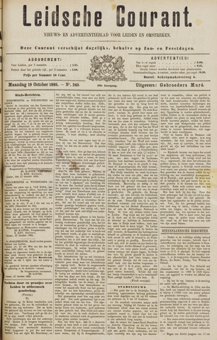 Leydse Courant 1885-10-19
