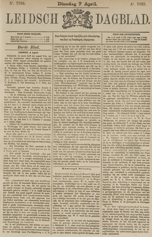 Leidsch Dagblad 1885-04-07
