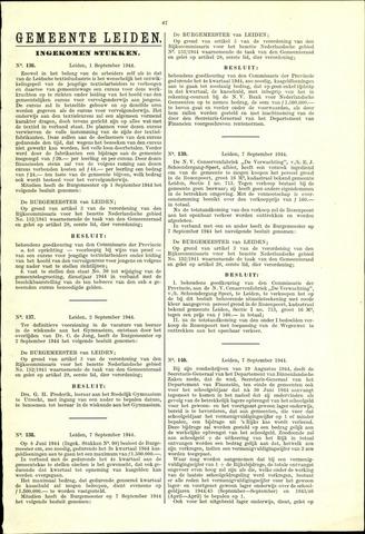 Handelingen van de Raad 1944-09-01