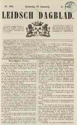 Leidsch Dagblad 1863-01-31