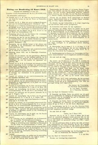 Handelingen van de Raad 1913-03-13
