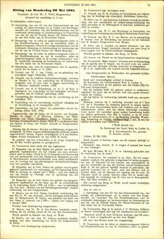 Handelingen van de Raad 1901-05-30
