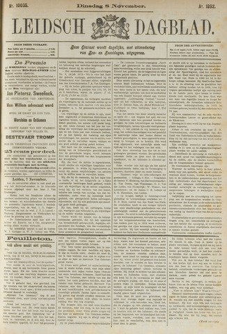 Leidsch Dagblad 1892-11-08