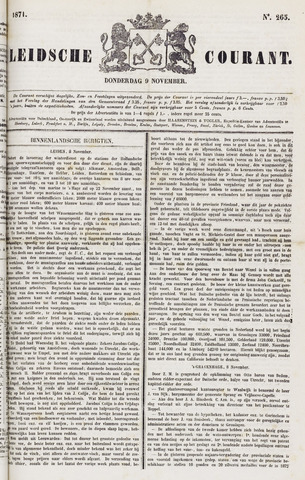 Leydse Courant 1871-11-09
