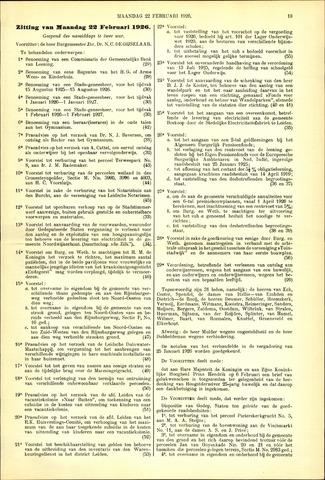 Handelingen van de Raad 1926-02-22
