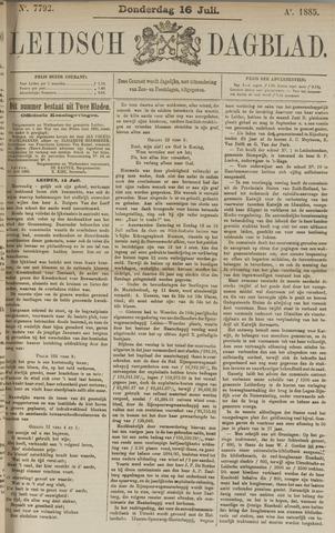 Leidsch Dagblad 1885-07-16