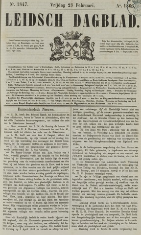 Leidsch Dagblad 1866-02-23