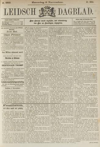 Leidsch Dagblad 1892-11-05