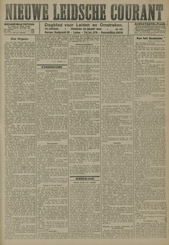 Nieuwe Leidsche Courant 1923-03-20