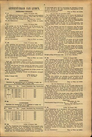 Handelingen van de Raad 1891-01-12
