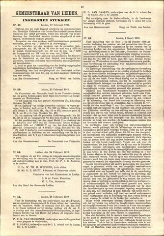 Handelingen van de Raad 1919-02-10