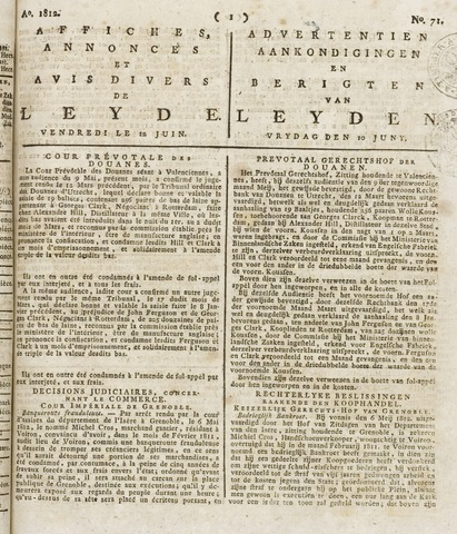 Leydse Courant 1812-06-12