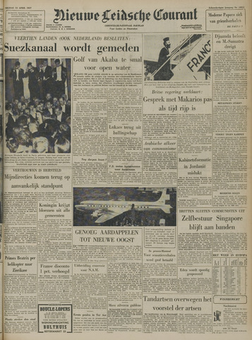 Nieuwe Leidsche Courant 1957-04-12