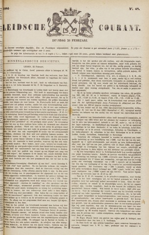 Leydse Courant 1884-02-26