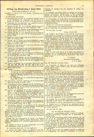 Handelingen van de Raad 1911-06-01