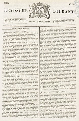 Leydse Courant 1853-02-02