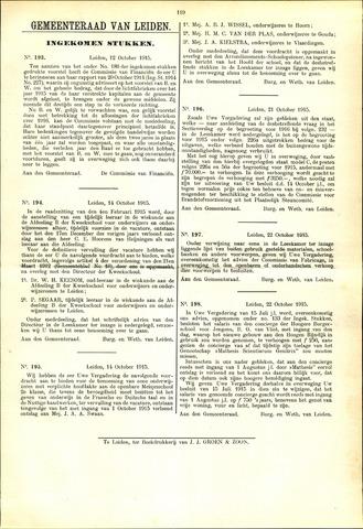 Handelingen van de Raad 1915-10-12