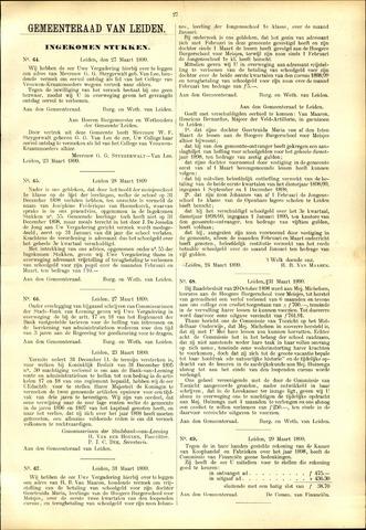 Handelingen van de Raad 1899-03-27