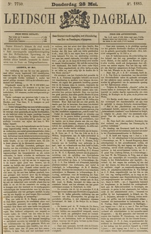 Leidsch Dagblad 1885-05-28
