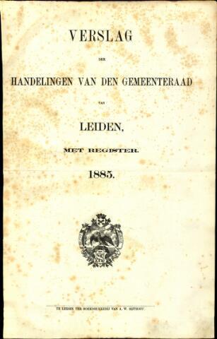 Handelingen van de Raad 1885-01-01