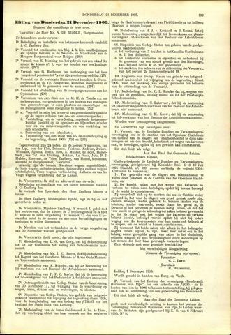 Handelingen van de Raad 1905-12-21
