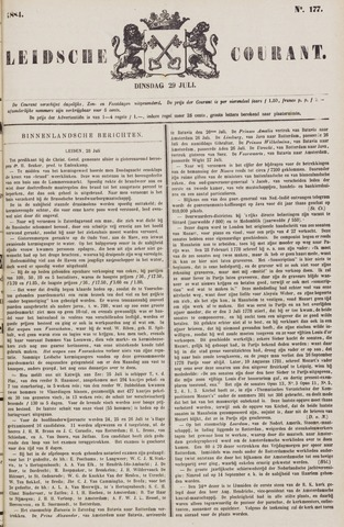 Leydse Courant 1884-07-29