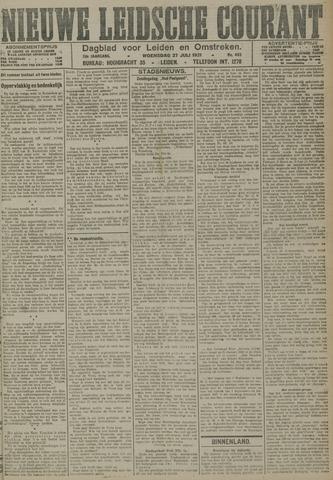 Nieuwe Leidsche Courant 1921-07-27