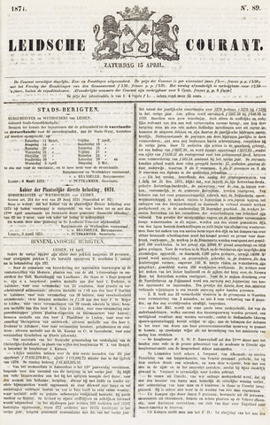 Leydse Courant 1871-04-15