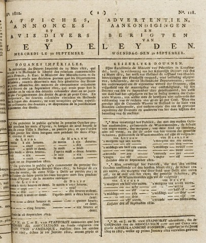 Leydse Courant 1812-09-30