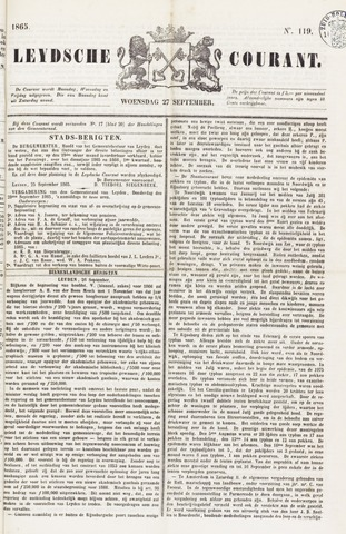 Leydse Courant 1865-09-27