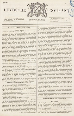 Leydse Courant 1850-06-11