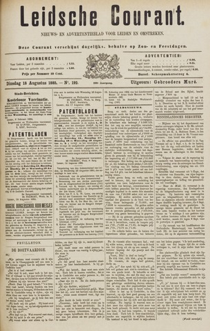 Leydse Courant 1885-08-18