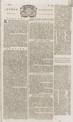 Leydse Courant 1815-11-22