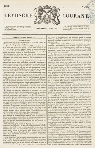Leydse Courant 1853-03-02