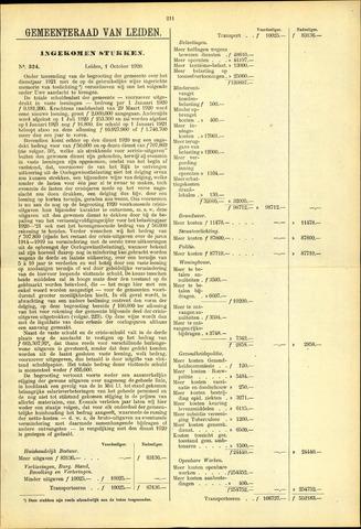 Handelingen van de Raad 1920-10-01