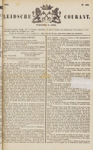 Leydse Courant 1884-04-30