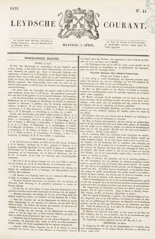 Leydse Courant 1852-04-05
