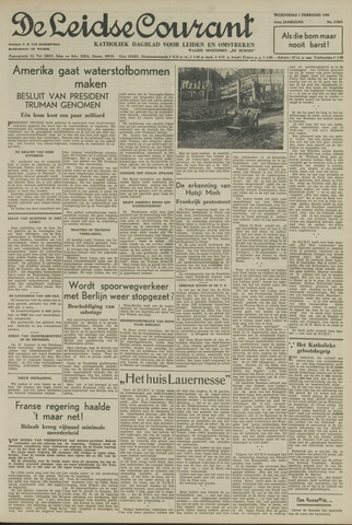 Leidse Courant 1950-02-01