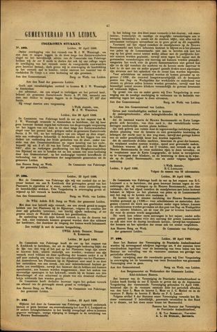 Handelingen van de Raad 1886-04-22