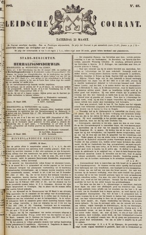 Leydse Courant 1885-03-21