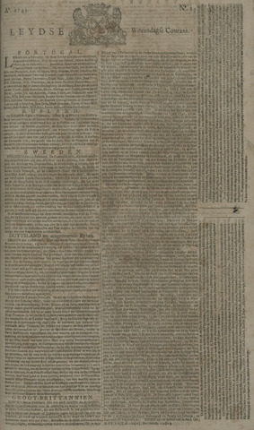 Leydse Courant 1743-02-27