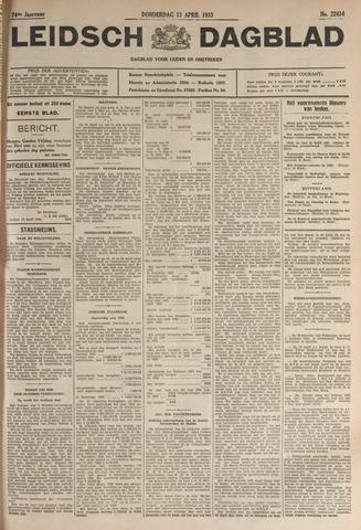 Leidsch Dagblad 1933-04-13