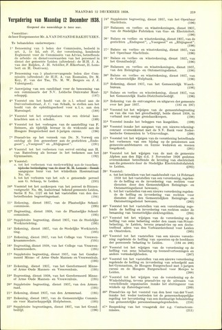 Handelingen van de Raad 1938-12-12