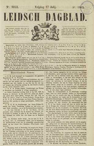 Leidsch Dagblad 1863-07-17