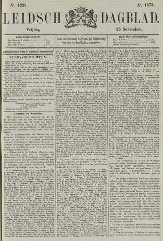 Leidsch Dagblad 1873-11-28