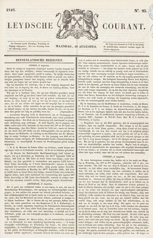 Leydse Courant 1846-08-10