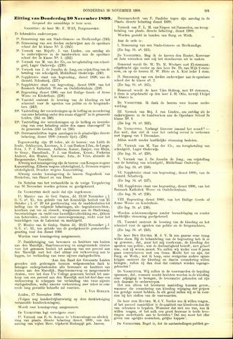 Handelingen van de Raad 1899-11-23
