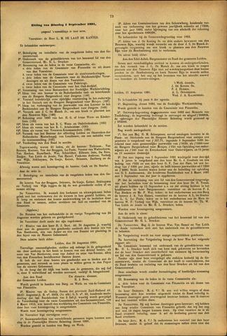 Handelingen van de Raad 1891-09-01